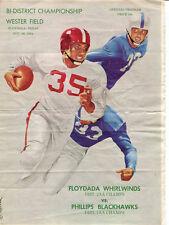 1954 Texas State AA Playoff Game Program Floydada v Phillips Nov. 26