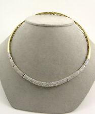 Echtschmuck-Halsketten & -Anhänger im Collier-Stil aus mehrfarbigem Gold mit Brilliantschliff