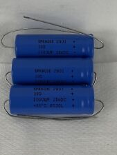 Sprague 2901 39D Axial Electrolytic Capacitor - 1000uF 25Vdc - 8530L - lot of 3
