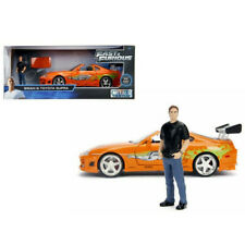 Jada Toyota Supra with Brian Paul Walker Figure Fast & Furious 1:24 Orange 30738