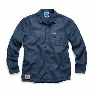 Scruffs Blue Denim Work Shirt with Button Pocket Warm Inner Lining