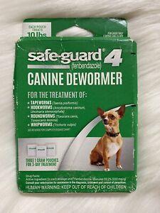 Safe-Guard 4 Canine Dewormer Dog Roundworm Hookworm Tapeworm Whipworm - 10 lbs
