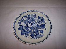 Royal Delft De Porceleyne Fles 1953 Blue Floral Wall Plate/Trivet