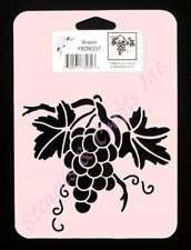 GRAPES STENCIL FRUIT TEMPLATE PAINT COLOR PATTERN CRAFT ART NEW BY STENSOURCE