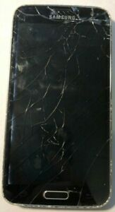 [BROKEN] Samsung Galaxy S5 SM-G900R 16GB Black US Cellular Parts Repair CRACK