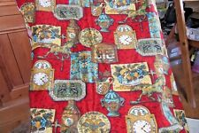 Designers guild Vintage clocks and teapots fabric (by the metre)