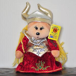 NEW Helga the Viking Bear - Beanie Kid Collectable