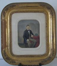 Ecole française début XIXe s. - Potrait d'homme à l'aquarelle