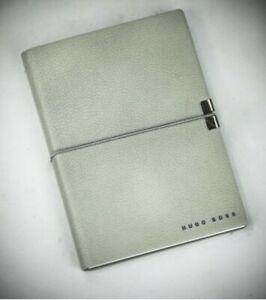 Hugo Boss A5, Grey, PLAIN Page, Notebook - New