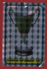 PANINNIS FOOTBALL 86 STICKER FOIL EFFECT EUROPEAN CUP WINNERS CUP