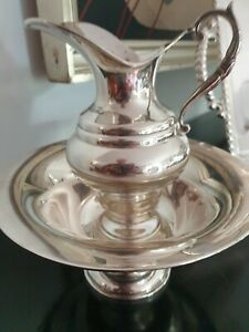 "545g STERLING SILVER elegant ""AGUAMANIL"" EWER & BOWL LOPEZ COLLECTION"