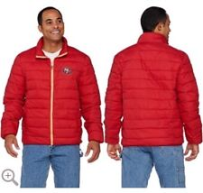 NFL San Francisco 49ers Packable Down Quilted Jacket Size L