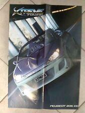 Q63 Poster Peugeot 206 cc Xtreme Tuning 55 x 40 cm.