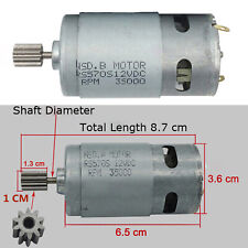12V DC 35000 Rpm 65W Drive Motor High Speed for Traxxas RC and Power Wheels Toy