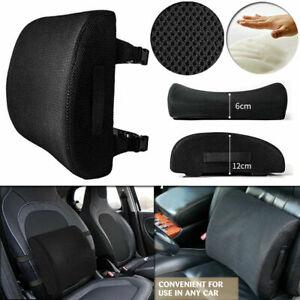 Memory Foam Car Seat Waist Lumbar Cushion Office Chair Back Rest Support Pillow