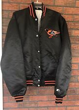 Vintage 80's Baltimore Orioles Starter Jacket Size XL Diamond Collection Snap Up