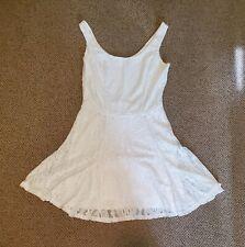Charlotte Russe Sleeveless White Crochet Lace Dress, Size S Small