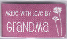 """BLUMENTHAL LANSING IRON ON LOVE LABELS """"MADE WITH LOVE BY GRANDMA"""" - SET OF 4 PC"""