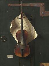 William MICHAEL HARNETT AMERICANO VECCHIO VIOLINO vecchio Arte Dipinto Manifesto bb6528a