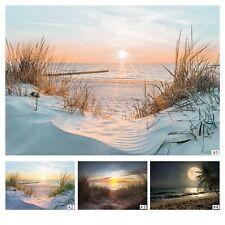 Sonnenuntergang FOTOTAPETE Seeblick Tapete VLIES Strandfoto Meer Strand Sonne