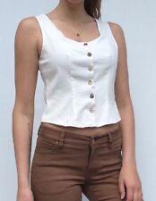 Handmade Solid Sleeveless Tops & Blouses for Women
