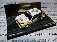 RIT1M coche 1/43 IXO altaya Rallye PORTUGAL 1987 : RENAULT 11 Turbo RAGNOTTI