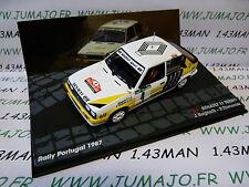 RIT1M voiture 1/43 IXO altaya Rallye PORTUGAL 1987 : RENAULT 11 Turbo RAGNOTTI