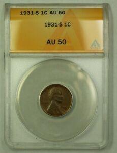 1931-S Lincoln Wheat Cent 1c ANACS AU-50 (B) (WW)
