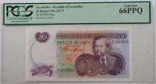 (1977) Republic of Seychelles 20 Rupees Note SCWPM# 20a PCGS 66 PPQ Gem New