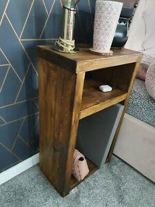 rustic handmade bedside table scaffold board
