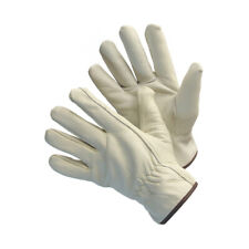 12 Pairs Full Cow Grain Leather Driver Work Gloves Keystone Size Large