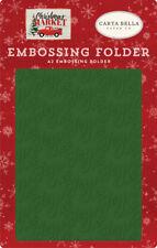 2 Embossing Folders, 1 Joy & 1 Market Snow