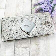 Personalised Classic Antique Silver Plated Jewellery Box Storage Keepsake Gift
