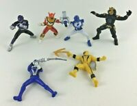 "Bandai Mighty Morphin Power Rangers 6pc Lot 3"" Action Figures PVC Toys Topper"