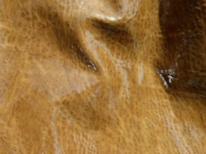 goatskin leather hide skin Antique Chestnut Brown Elephant Grain Gloss finish