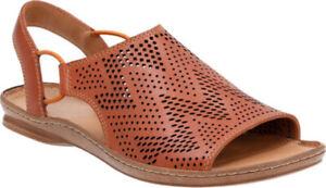 Clarks Ladies Sandals SARLA CADENCE Tan Leather UK 7 / 41