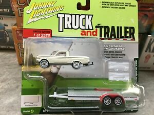 1964 Ford Falcon Ranchero and Trailer Johnny Lightning Truck and Trailer - White