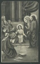 Holy card antique de Jesus entre los doctores santino image pieuse estampa