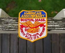 America's Anniversary Boston Mass 1776-1976 Nation Birthplace Embroidered Patch