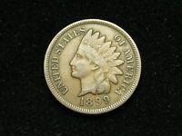 SUMMER SALE!!  VF-XF 1899 INDIAN HEAD CENT PENNY w/ DIAMONDS & FULL LIBERTY 179s