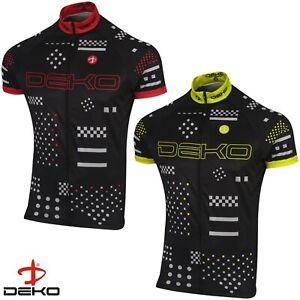 DEKO Mens Cycling Half Sleeve Jersey Bike Top Cycling Shirt Racing Outdoor