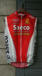 Saeco Team cannondale jersey size S Cycling Vintage WindTex