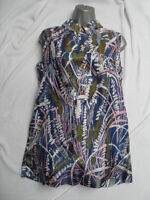 VINTAGE 1960s/70s ABSTRACT FLORAL MINI DRESS - MOD / SCOOTER / DOLLY BIRD