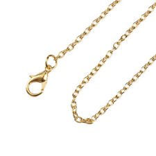 "1 Pc Jewelry Necklace Oval Gold Plated Cable Chain 45.7cm(18"") long(B59641)"