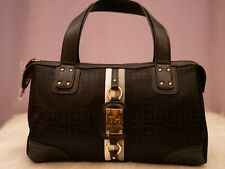 Tommy Hilfiger Women's Black Large Satchel Handbag Beautiful Logo Purse