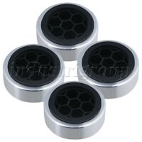 4x Aluminum Isolation Feet Pad for Amplifier Speaker CD Player Computer Chassis