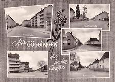 AK Göggingen gel. 1972 Augsburg Straßenansichten
