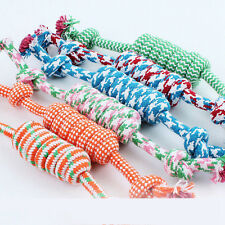 Cotton Puppy Dog Pet Cats Braided Bone Rope Chew Knot Colorful Toy Cosplay New