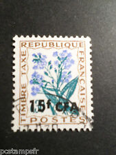 REUNION 1964-65, timbre TAXE 51, FLEURS, FLOWERS, oblitéré, TAX, cancelled stamp