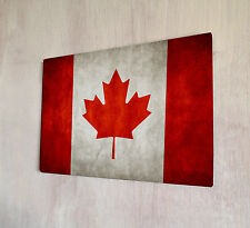 Canadian Flag Red sign A4 metal plaque Shabby Chic